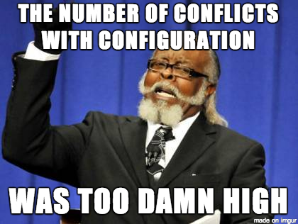 Conflicts too high