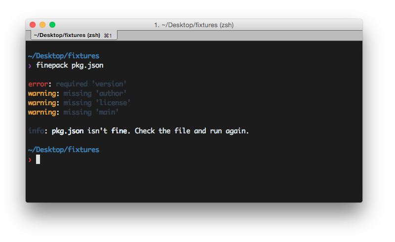 Finepack, organizes your JSON files