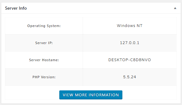 Server Info Screenshot 1