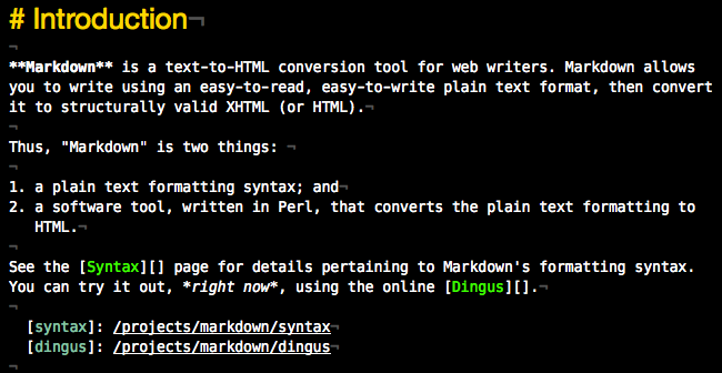 Markdown screenshot