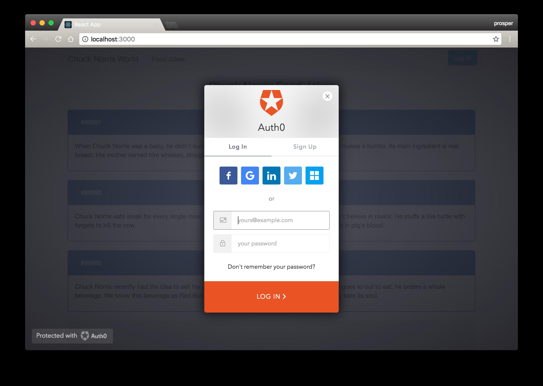 GitHub - auth0-blog/reactjs-authentication-tutorial: Chuck