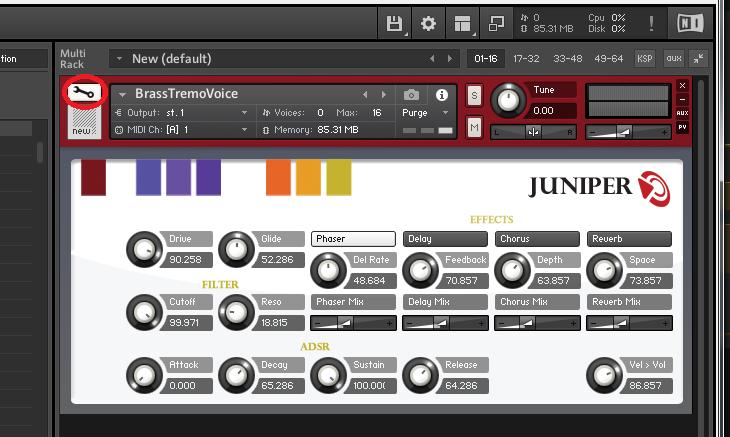 Edit Instrument