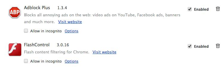 Chrome 的扩展
