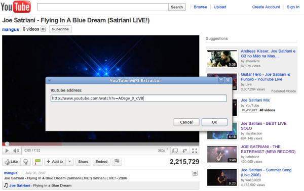 youtube2mp3 screenshot
