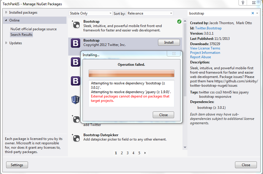 Nuget package failed · Issue #22 · sirkirby/twitter-bootstrap-nuget