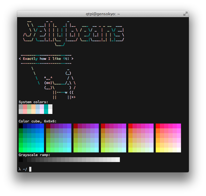 screen shot of jellybeans.itermcolors
