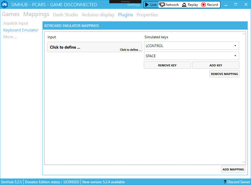 Additional Plugin Keyboard Emulator Plugin · SHWotever