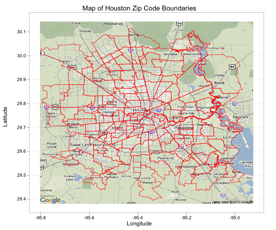 Crime in Downtown Houston, Texas : Combining ggplot2 and ...