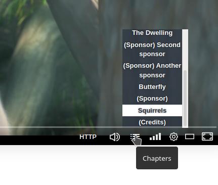 Chapter menu including sponsor segments