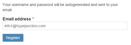 Minimal Registration form