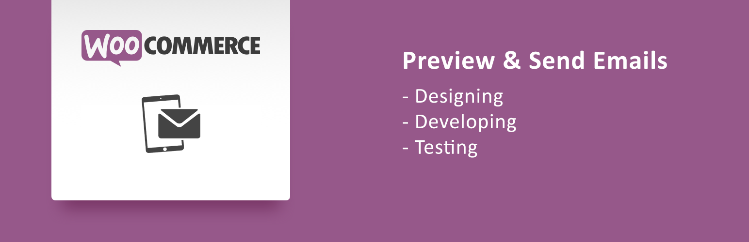 WooCommerce Email Testing Banner