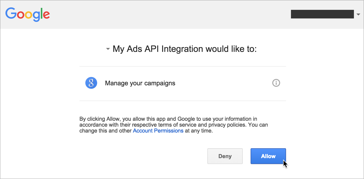 API access on behalf of your clients (web flow) · googleads