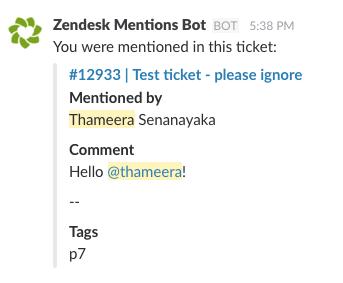 Mention Slack users in Zendesk using Webtasks · GitHub