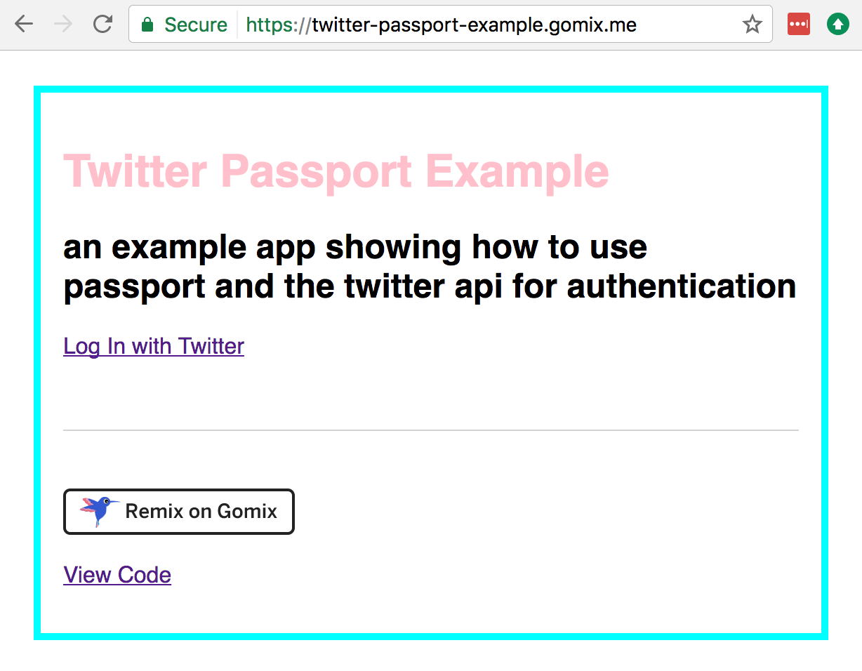 Passport Oauth2 Example
