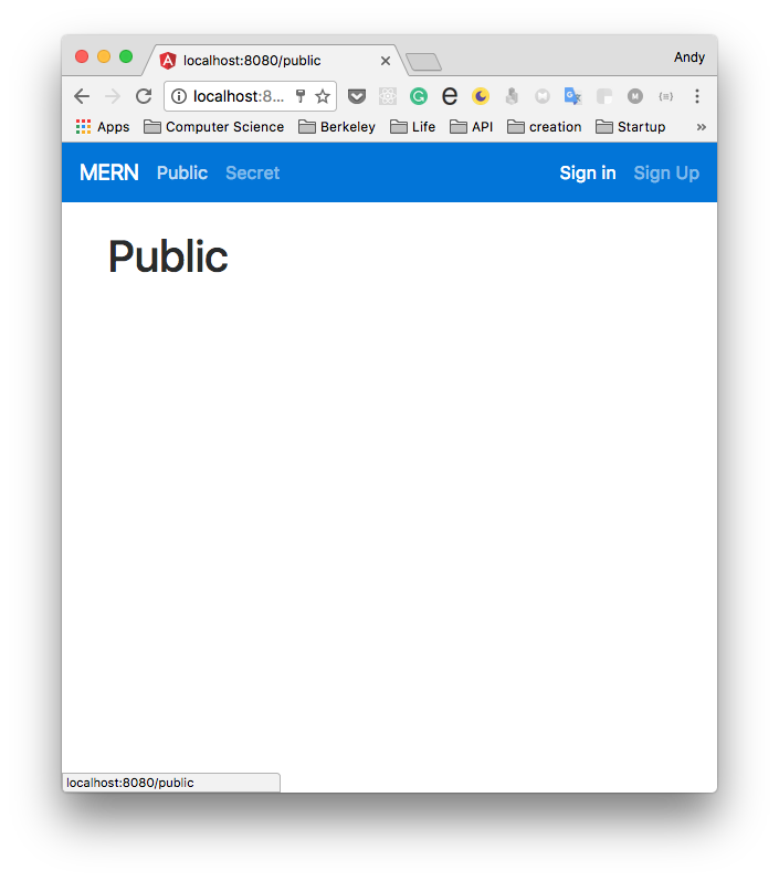 User visit public and Home page