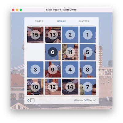 Screenshot of the Slide Puzzle