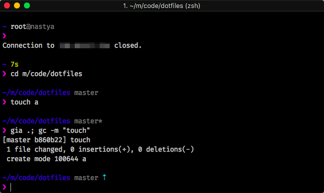 zsh screenshot