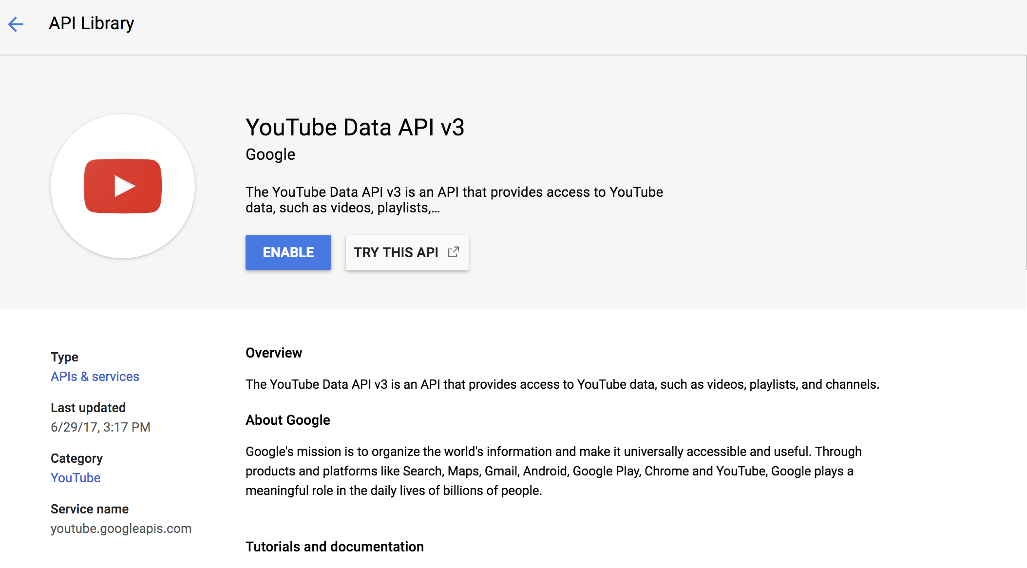 Youtube Api V3 Get Video Info