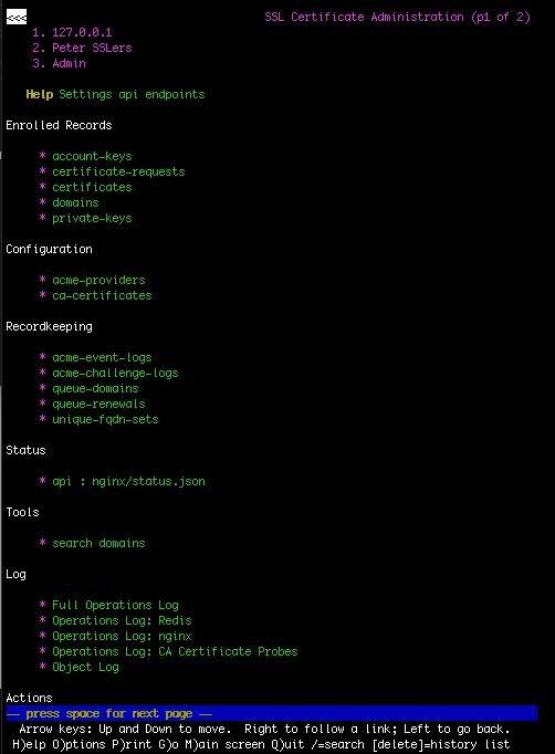 Admin Index - Lynx