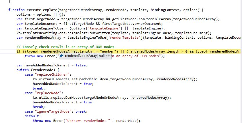 Knockout Template Execution in IE 8 · Issue #1107 · knockout ...