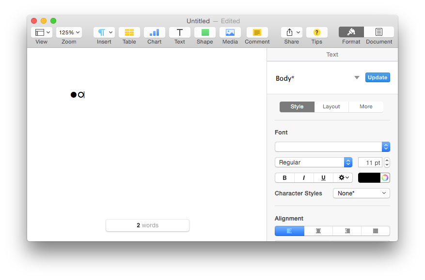Font does not show up on Apple Pages for Mac font selection pulldown