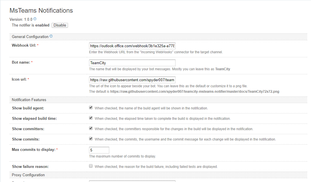Admin Page Configuration