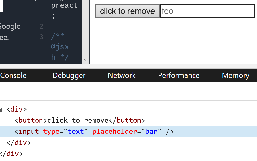 placeholder prop reused incorrectly when rerendering text input with