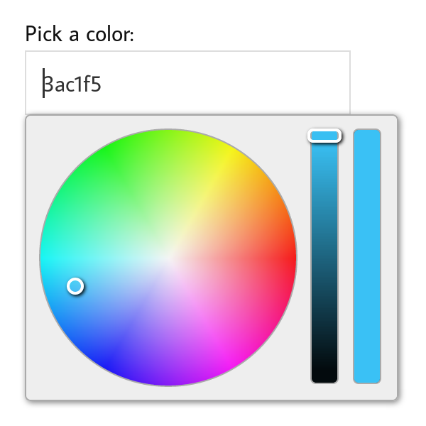 Github Fujaru Jquery Wheelcolorpicker A Jquery Plugin To Add Color Picker Functionality To Html Form Inputs In Round Color Wheel Style