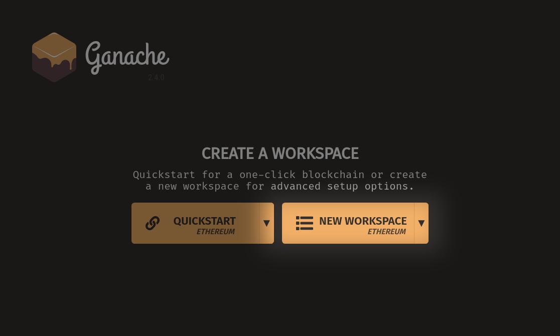 New Workspace Button