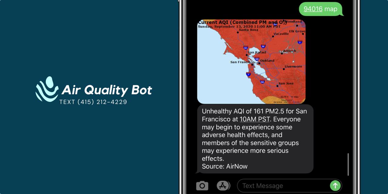 Air Quality Bot - Text (415) 212-4229