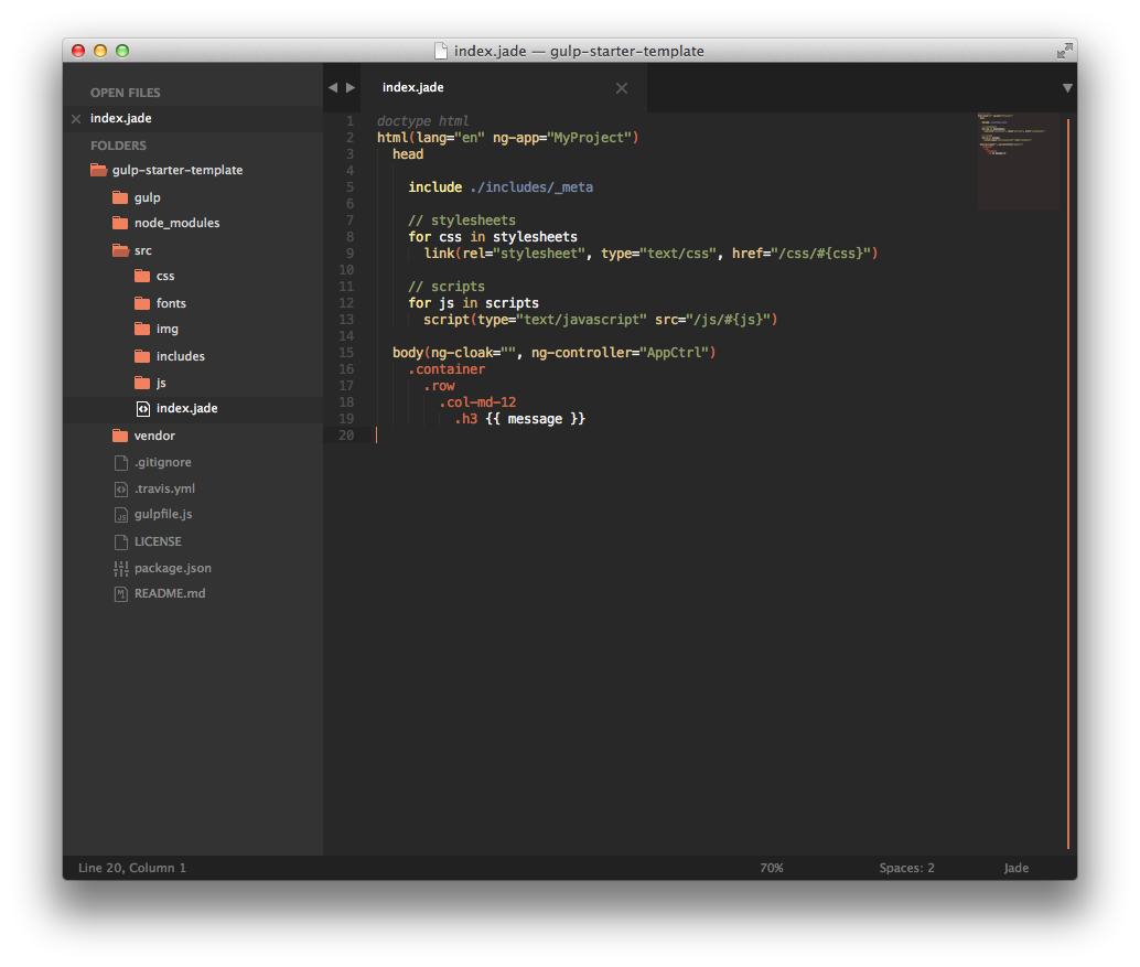 Predawn Twilight Sublime Text Theme
