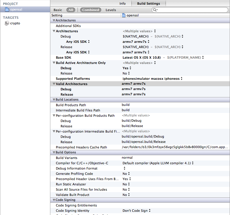 Sqlcipher In Ios6 Undefined Symbols For Architecture Armv7s