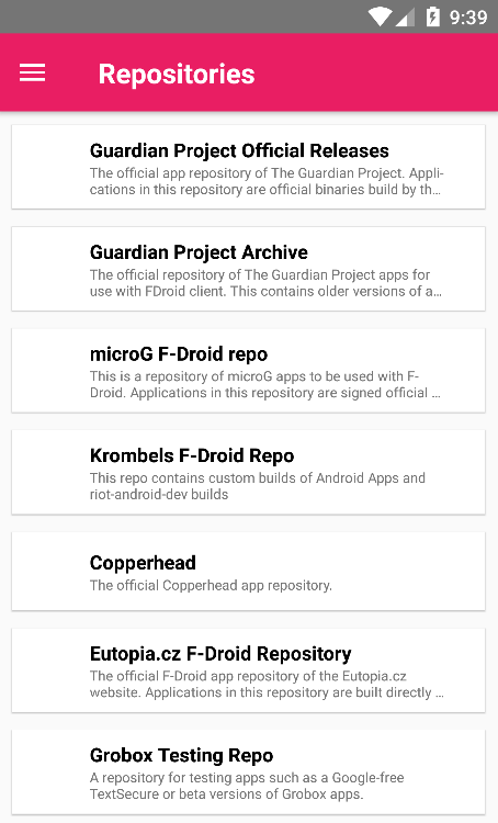6th step: Repositories managment