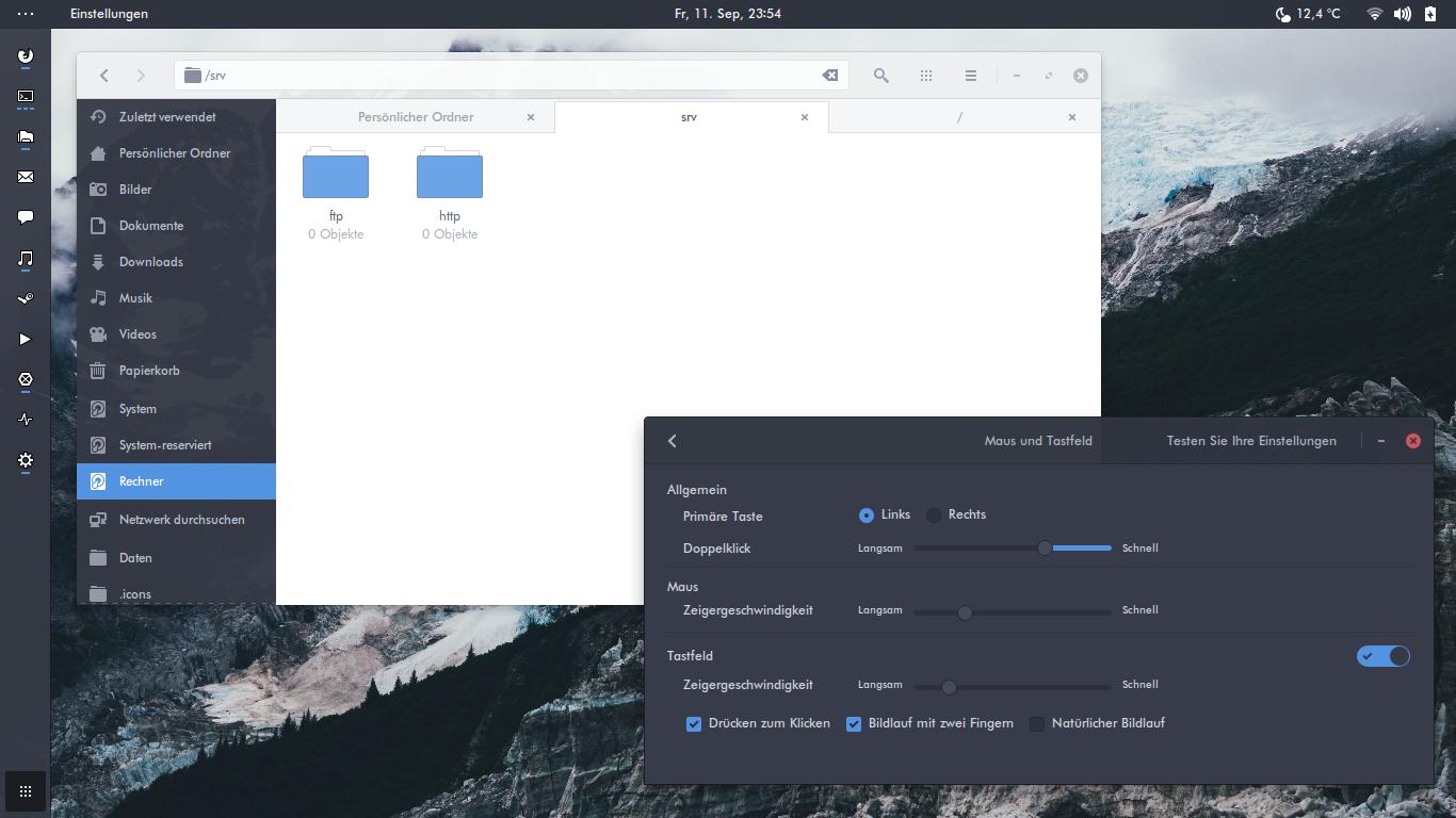 A full screenshot of the Arc theme