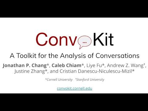 SIGDIAL 2020: Introducing ConvoKit