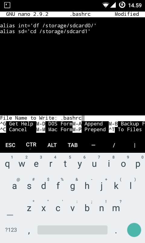 How do we access files from outside Termux (f e  with TouchVim