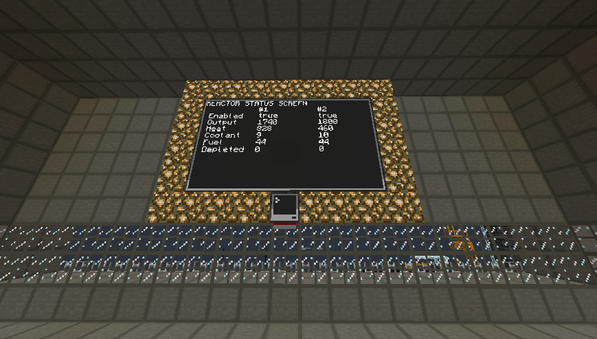 power plant status display screenshot