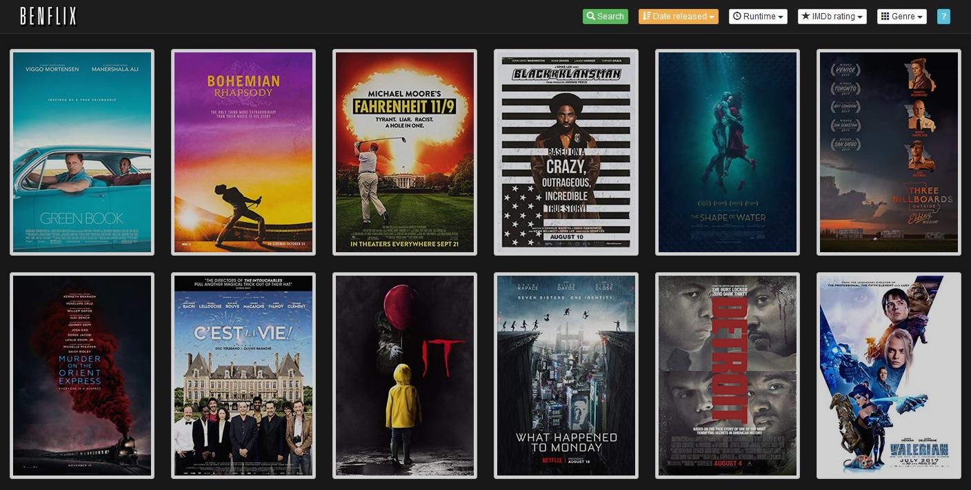 GitHub - benji1000/benflix: Beautify your movie collection