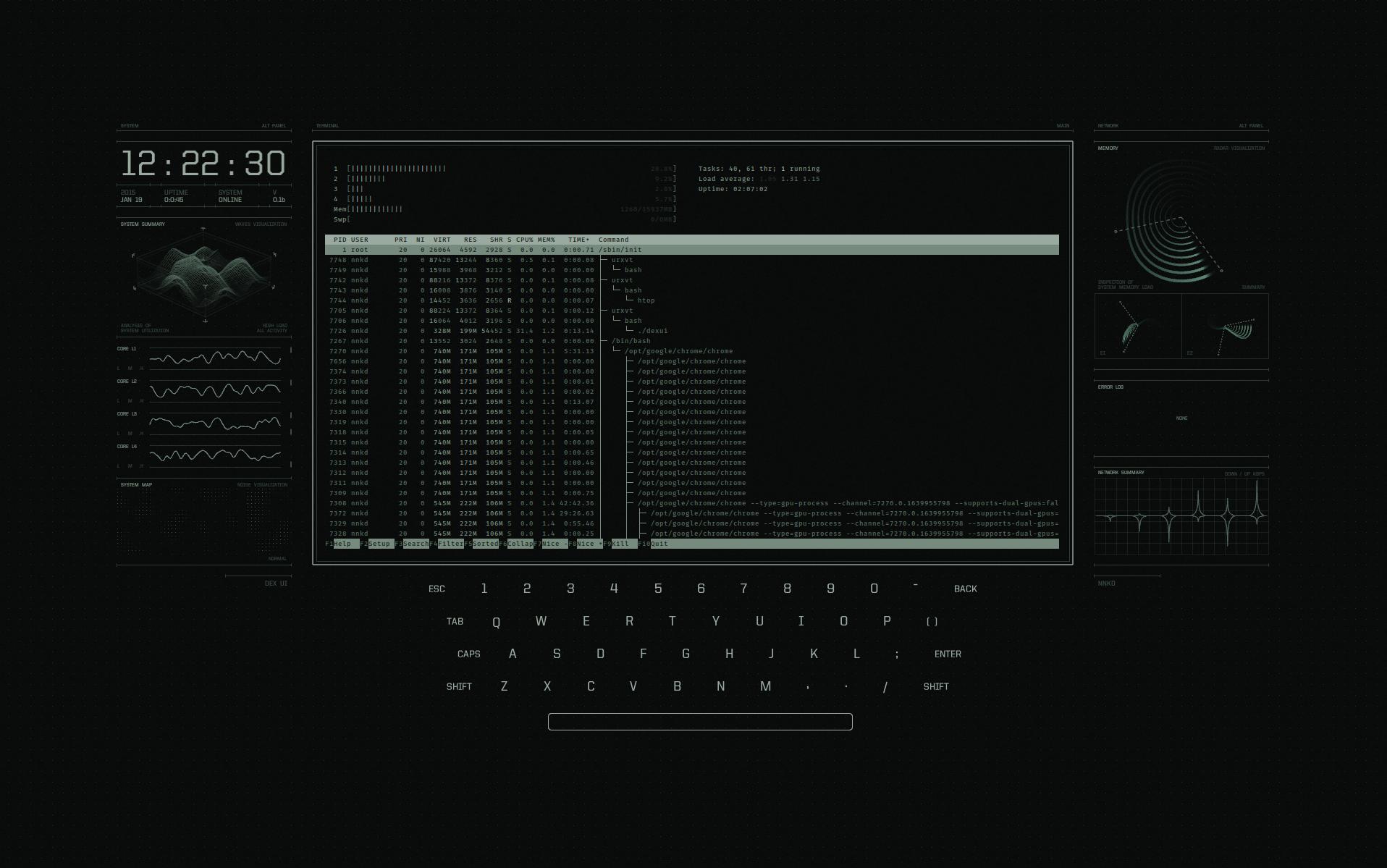 DEX UI Full Screenshot