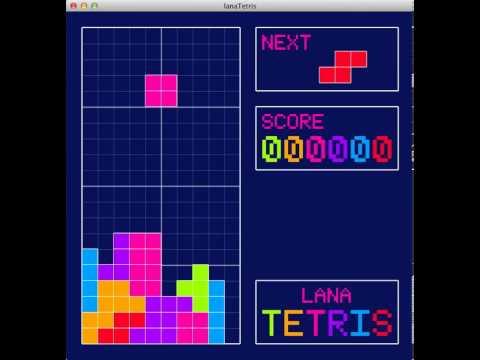 Lana Tetris Gameplay