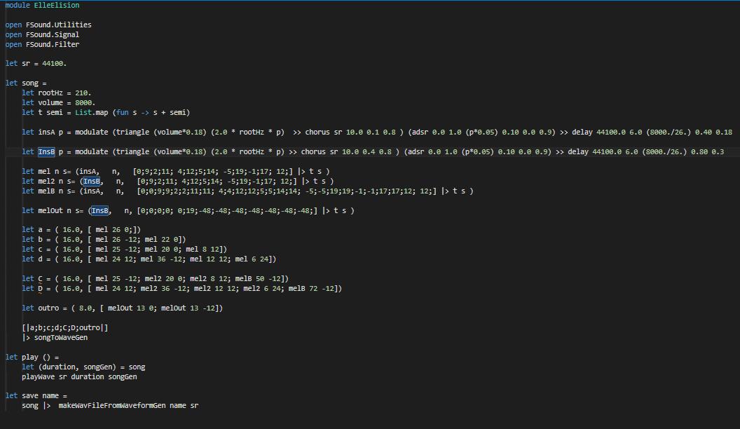F# Code Example- Elle Elision