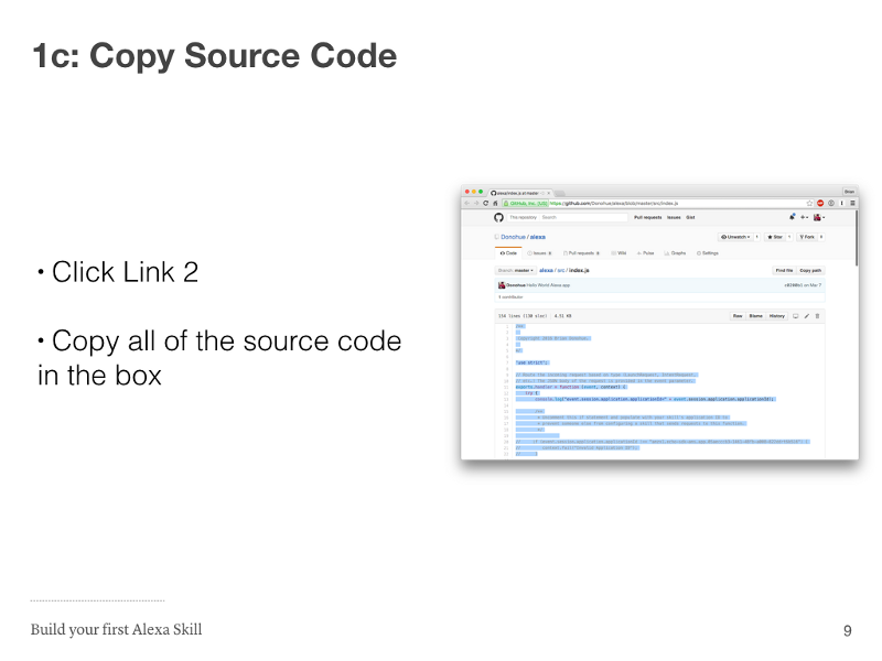 Step 1c: Copy Source Code