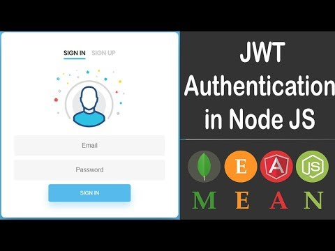 Video Tutorial for MEAN Stack JWT Authentication in Node JS