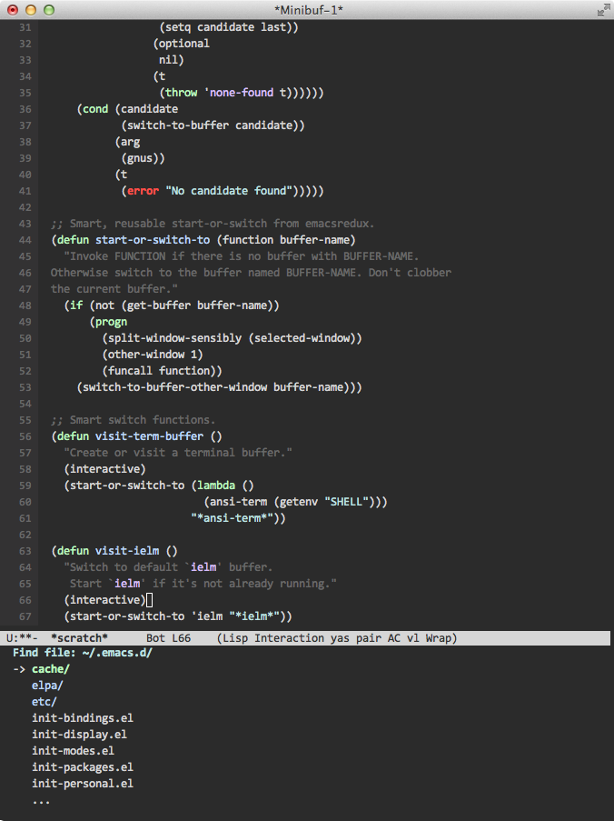 Showing ido and some syntax highlighting