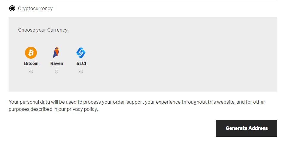 SeciPay Checkout Options
