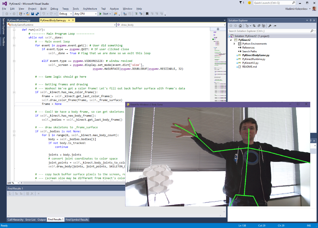 GitHub - Kinect/PyKinect2: Wrapper to expose Kinect for Windows v2