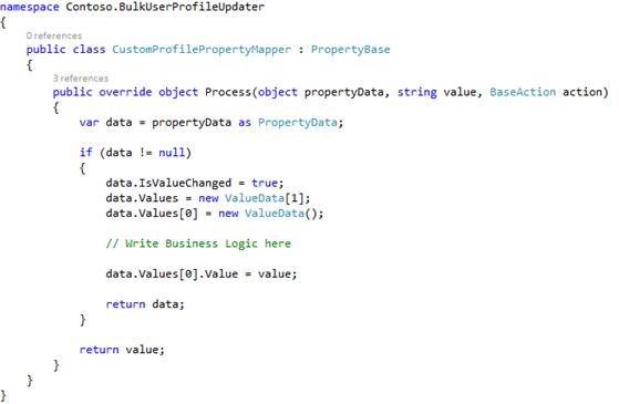Inherited property mapper code