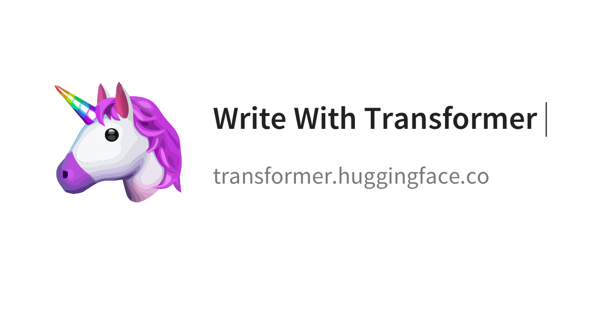 write_with_transformer