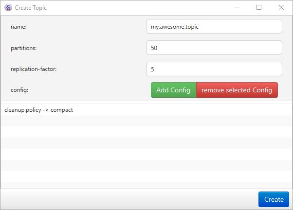 Create Topic Screenshot
