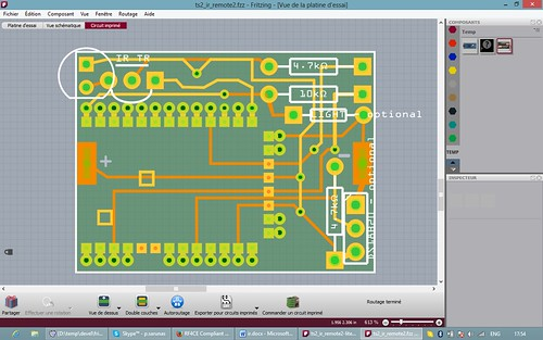Figure 7. PCB design with some optional components.